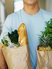 Healthy & natural grocery / food shopping
