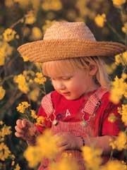 little girl spring